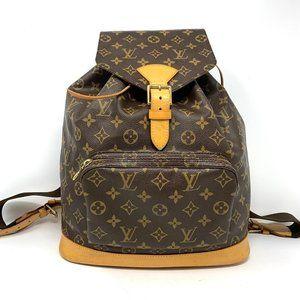 Authentic Louis Vuitton Montsouris GM Backpack Bag